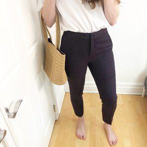 Massimo Dutti 100% Tweed Wool Purple Trouser Pants